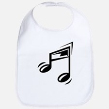 Black Eighth Notes Bib