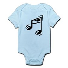 Black Eighth Notes Body Suit