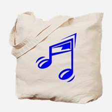 Blue Eighth Notes Tote Bag