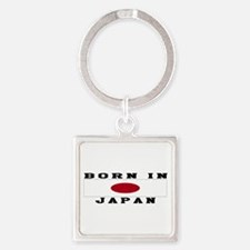 Born In Japan Square Keychain