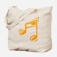 Orange Eighth Notes Tote Bag