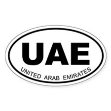 United Arab Emirates Oval Decal