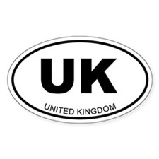 United Kingdom Oval Decal