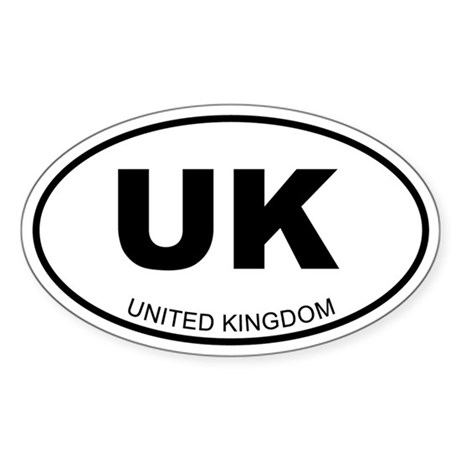 United Kingdom Oval Sticker
