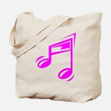 Pink Eighth Notes Tote Bag