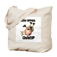 Cow Tipping Champ Tote Bag