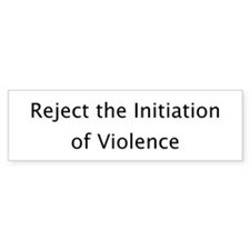 Reject Violence Bumper Bumper Sticker