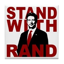 Stand With Rand Tile Coaster