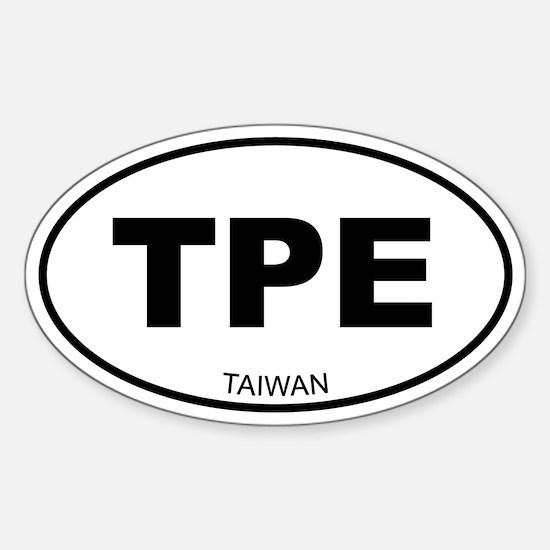 Taiwan (Chinese Teipei) Oval Decal