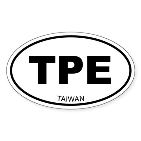 Taiwan (Chinese Teipei) Oval Sticker