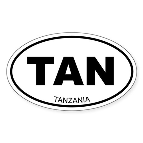 Tanzania Oval Sticker