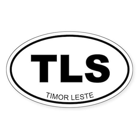 Timor Leste Oval Sticker