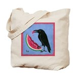 Crow & Watermelon Tote Bag