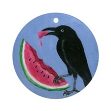 Crow & Watermelon Ornament (Round)