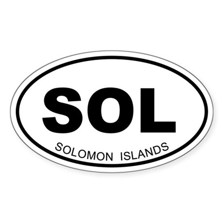 Solomon Islands Oval Sticker