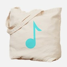 Sky Blue Eighth Note Tote Bag