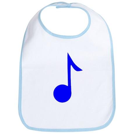 Blue Eighth Note Bib