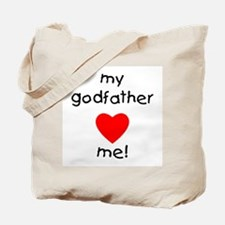 My godfather loves me Tote Bag