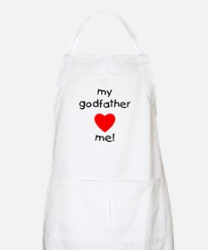 My godfather loves me BBQ Apron
