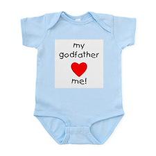 My godfather loves me Infant Bodysuit