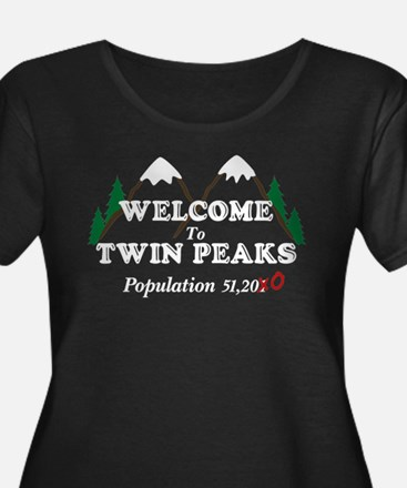 Welcome To Twin Peaks Population Plus Size T-Shirt