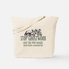 Twin Peaks Pine Weasel Tote Bag