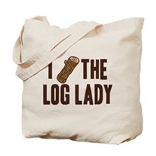 I Love The Log Lady Twin Peaks Tote Bag