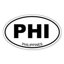 Philippines Oval Decal