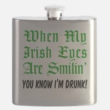 Irish Eyes Are Smiling Flask