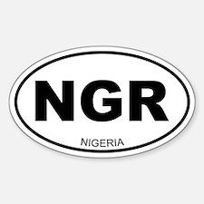 Nigeria Oval Decal