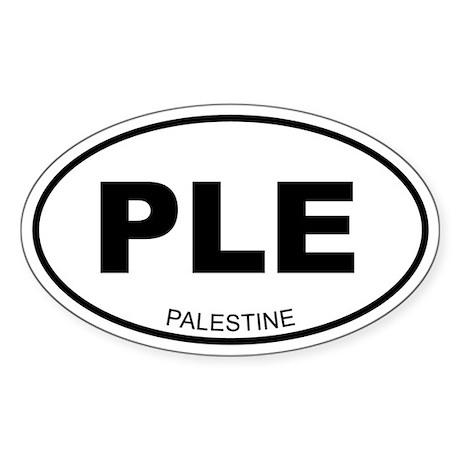 Palestine Oval Sticker