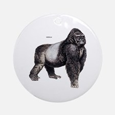 Gorilla Ape Animal Ornament (Round)