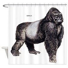 Gorilla Ape Animal Shower Curtain