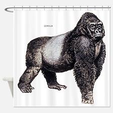 Gorilla Ape Animal Shower Curtain