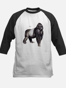 Gorilla Ape Animal Kids Baseball Jersey