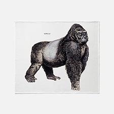 Gorilla Ape Animal Throw Blanket