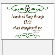 Philippians 4 13 Bible Verse Yard Sign
