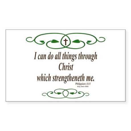 Philippians 4 13 Bible Verse Sticker