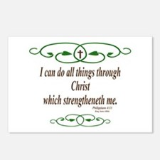 Philippians 4 13 Bible Verse Postcards (Package of
