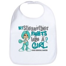 Fights Like a Girl 42.9 Cervical Cancer Bib