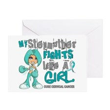 Fights Like a Girl 42.9 Cervical Cancer Greeting C