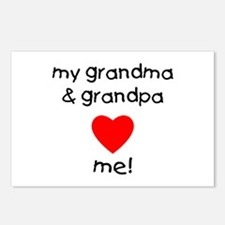 My grandma & grandpa love Postcards (Package of 8)
