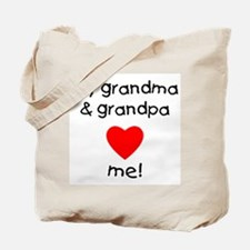 My Grandma & Grandpa Love Me Tote Bag