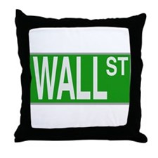 Wall St Throw Pillow