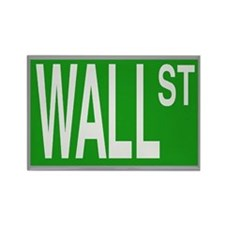 Wall St Rectangle Magnet