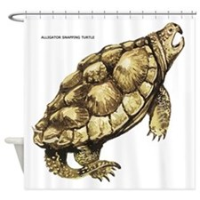 Alligator Snapping Turtle Shower Curtain
