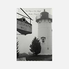 Edgartown Lighthouse, MV Rectangle Magnet
