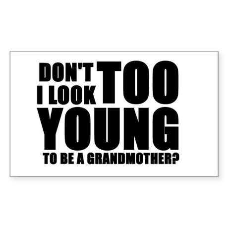 young grandmother Rectangle Sticker