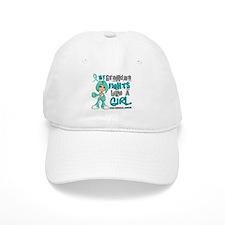Fights Like a Girl 42.9 Cervical Cancer Baseball Cap