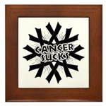 Melanoma Cancer Sucks Framed Tile